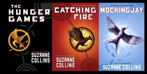 Cover set for Hunger Games trilogy