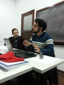 Nicolas Panotto, Grupo Gemrip founder, and Timothy Murphy, a Claremont-Lincoln PhD candidate